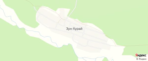 Карта поселка Зун-Хурай в Бурятии с улицами и номерами домов