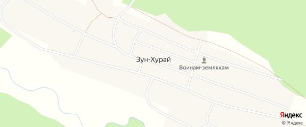 Почтовая улица на карте поселка Зун-Хурай с номерами домов