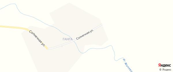 Солнечная улица на карте заимки Ганги с номерами домов