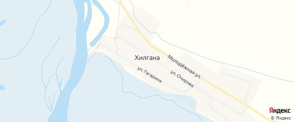 Карта улуса Хилгана в Бурятии с улицами и номерами домов