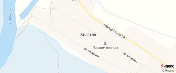 Улица Заготзерно на карте улуса Хилгана с номерами домов