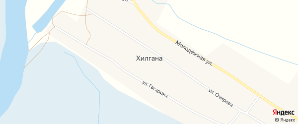 Улица Очирова на карте улуса Хилгана с номерами домов