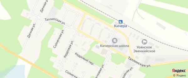 Таллинская улица на карте поселка Кичера с номерами домов