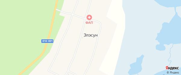 Улица Братьев Аханаевых на карте улуса Элэсун с номерами домов