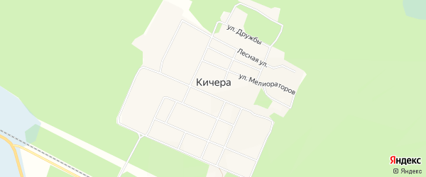 Карта поселка Кичера в Бурятии с улицами и номерами домов