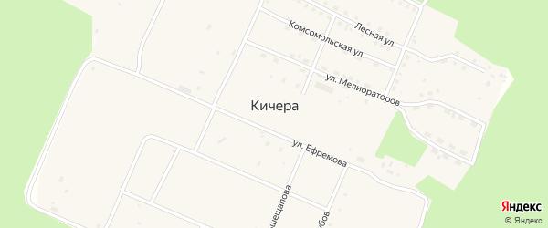 Улица Первопроходцев на карте поселка Кичера с номерами домов