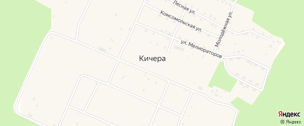 Улица Мостостроителей на карте поселка Кичера с номерами домов