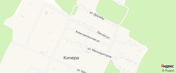 Комсомольская улица на карте поселка Кичера с номерами домов