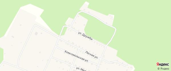 Улица Дружбы на карте поселка Кичера с номерами домов
