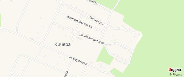 Улица Мелиораторов на карте поселка Кичера с номерами домов
