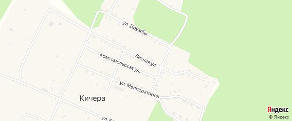 Лесная улица на карте поселка Кичера с номерами домов