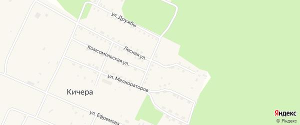 Молодежная улица на карте садового товарищества Железнодорожника с номерами домов