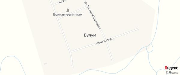 Улица Василия Бадмаева на карте улуса Булум с номерами домов