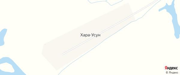 Центральная улица на карте улуса Хара-Усун с номерами домов