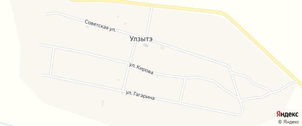 Советская улица на карте улуса Улзытэ с номерами домов