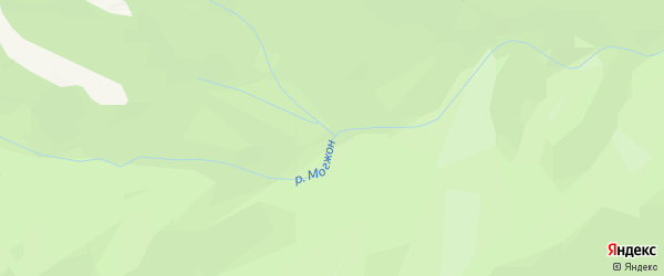 Карта заимки Могжна в Бурятии с улицами и номерами домов