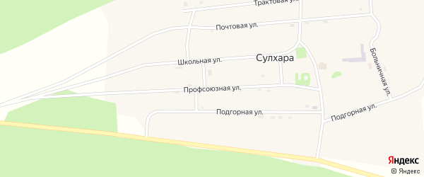 Профсоюзная улица на карте села Сулхары с номерами домов