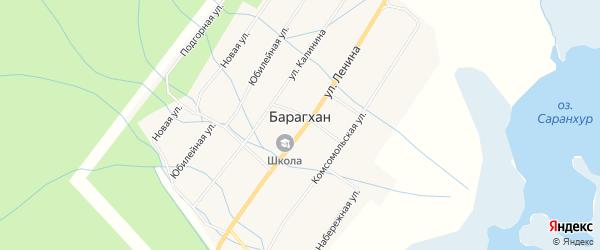 Местность Балагун заимка на карте улуса Барагхан с номерами домов