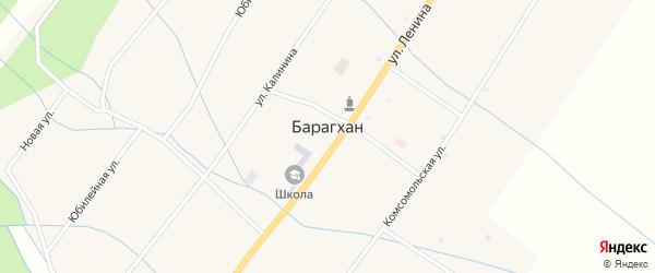Подгорная улица на карте улуса Барагхан с номерами домов