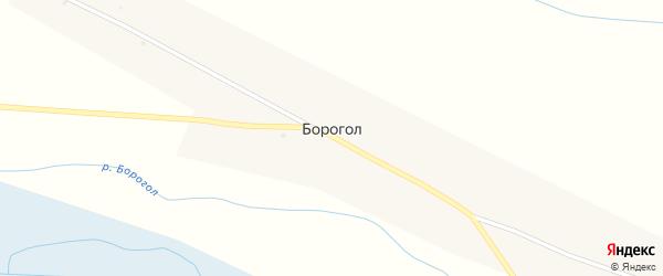 Улица Энгельса на карте улуса Борогол с номерами домов