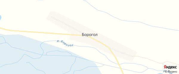 Карта улуса Борогол в Бурятии с улицами и номерами домов