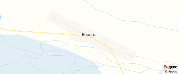 Территория Свиноферма на карте улуса Борогол с номерами домов