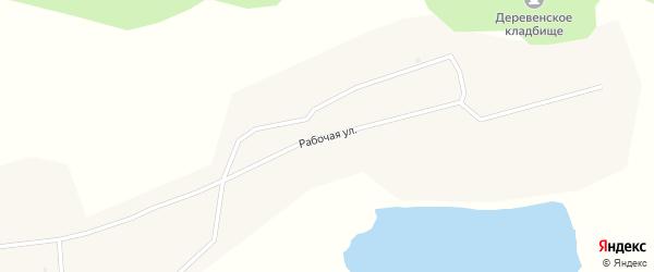 Рабочая улица на карте села Сулхары с номерами домов