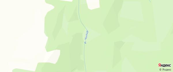 Карта заимки Чилира в Бурятии с улицами и номерами домов