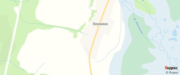 Карта улуса Хонхино в Бурятии с улицами и номерами домов