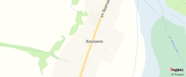 Улица Братьев Данжуровых на карте улуса Хонхино с номерами домов