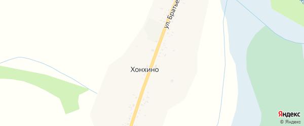Улица Братьев Данжуровых на карте улуса Барагхан с номерами домов
