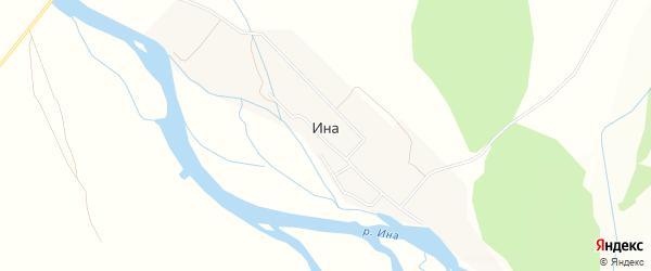 Карта поселка Ина в Бурятии с улицами и номерами домов