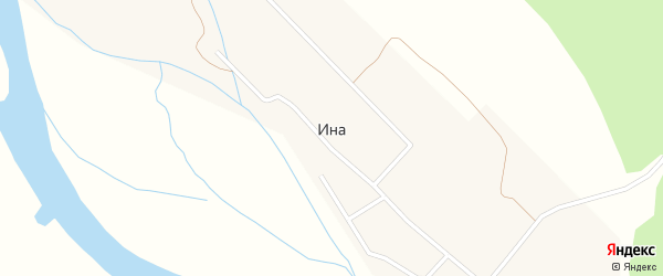 Лесная улица на карте поселка Ина с номерами домов