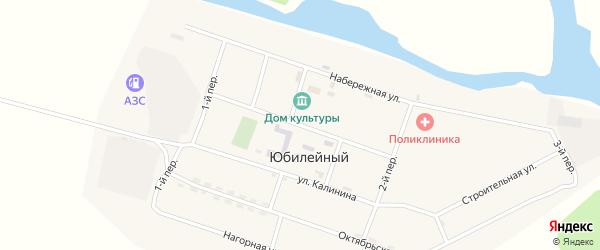 Улица Буды Сангадина на карте Юбилейного поселка с номерами домов