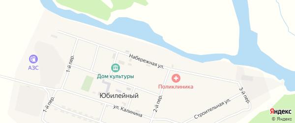 Набережная улица на карте Юбилейного поселка с номерами домов