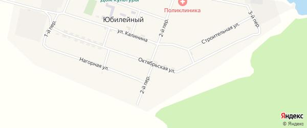 Октябрьская улица на карте Юбилейного поселка с номерами домов