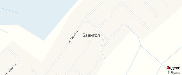 Улица Цыденова на карте улуса Баянгла с номерами домов