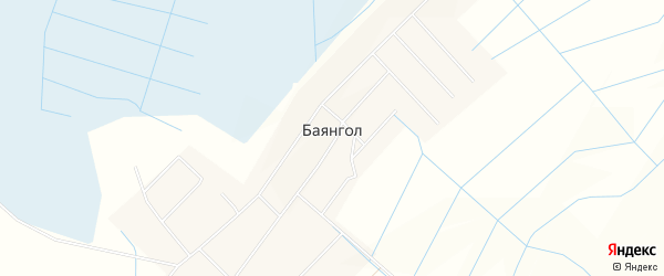 Карта улуса Баянгла в Бурятии с улицами и номерами домов