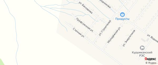 Степная улица на карте села Курумкана с номерами домов