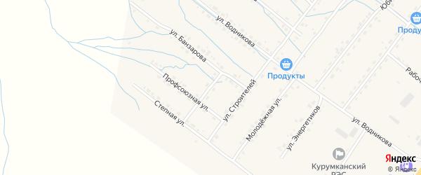 Улица Мелиораторов на карте села Курумкана с номерами домов