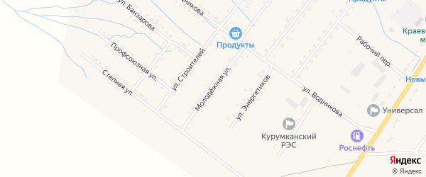 Молодежная улица на карте села Курумкана с номерами домов