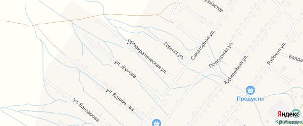Демократическая улица на карте села Курумкана с номерами домов