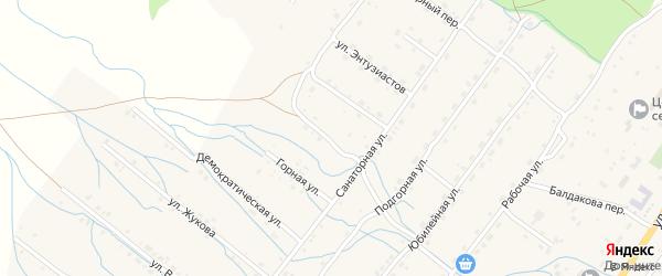 Солнечный переулок на карте села Курумкана с номерами домов
