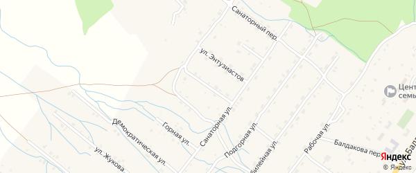 Сосновый переулок на карте села Курумкана с номерами домов