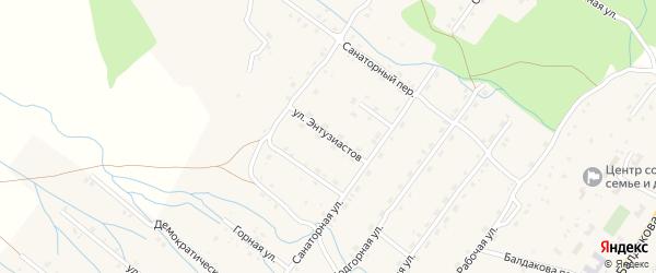Улица Энтузиастов на карте села Курумкана с номерами домов