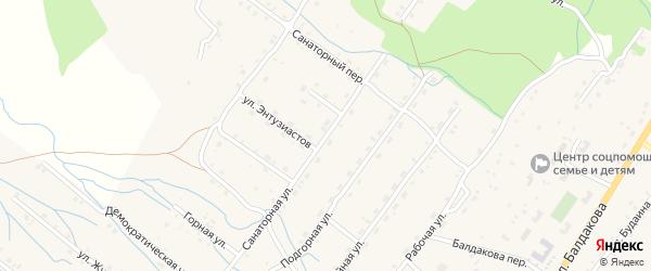 Санаторная улица на карте села Курумкана с номерами домов