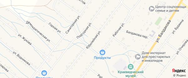 Юбилейная улица на карте села Курумкана с номерами домов