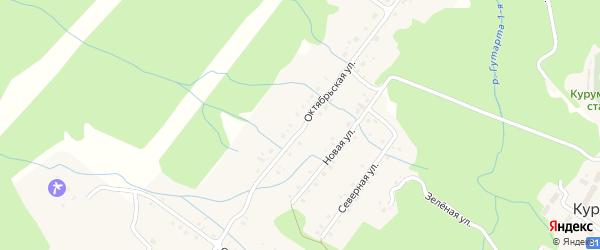 Октябрьская улица на карте села Курумкана с номерами домов