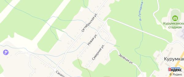 Новая улица на карте села Курумкана с номерами домов