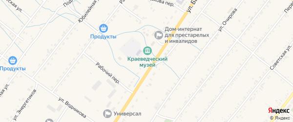 Переулок Балдакова на карте села Курумкана с номерами домов